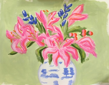 "Pink ""Octopus"" Lilies-- SOLD"