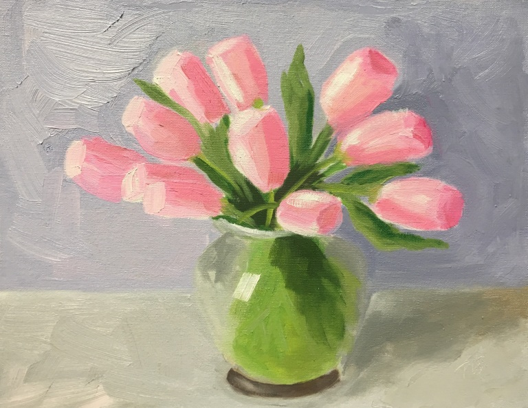 PinkTulips_OilPainting