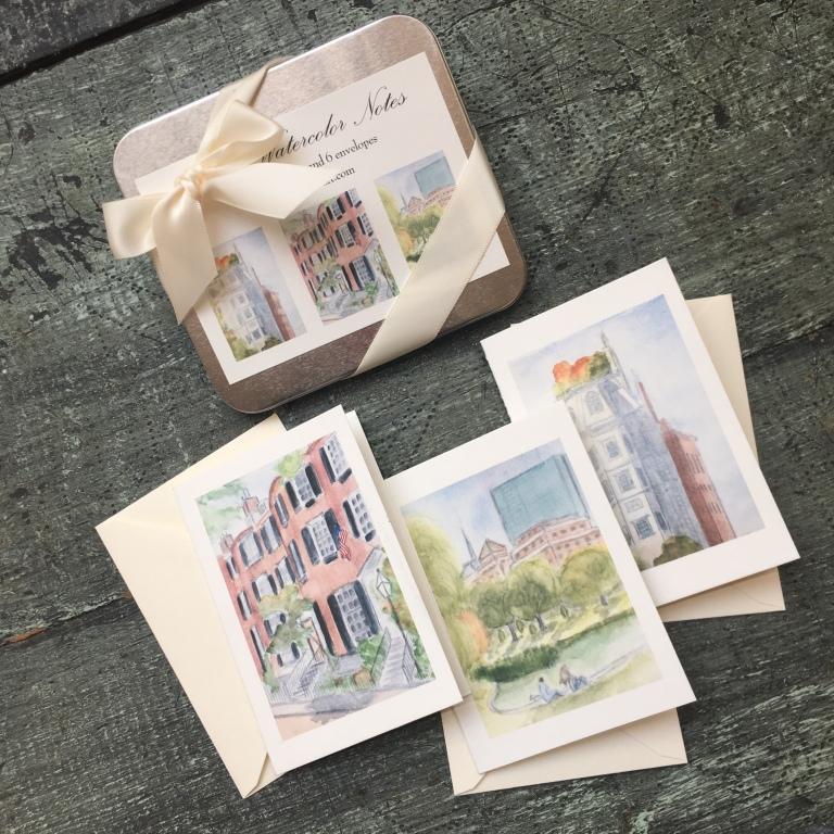boston sketch notecards_tin