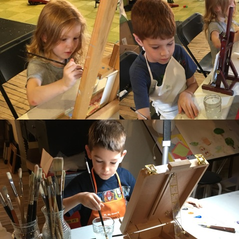 Three at the Easels